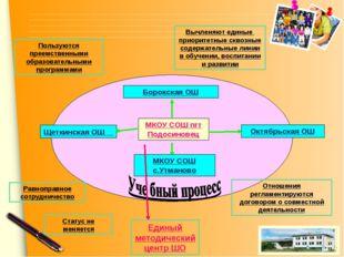 Пользуются преемственными образовательными программами Вычленяют единые приор