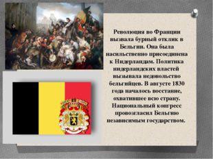 Революция во Франции вызвала бурный отклик в Бельгии. Она была насильственно