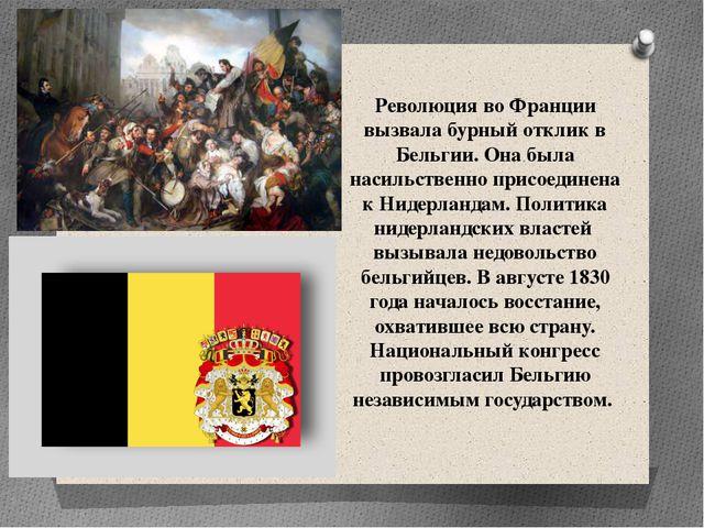 Революция во Франции вызвала бурный отклик в Бельгии. Она была насильственно...
