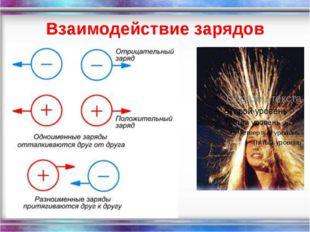 Взаимодействие зарядов