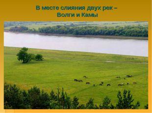 В месте слияния двух рек – Волги и Камы