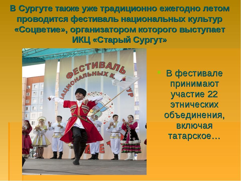 В Сургуте также уже традиционно ежегодно летом проводится фестиваль националь...
