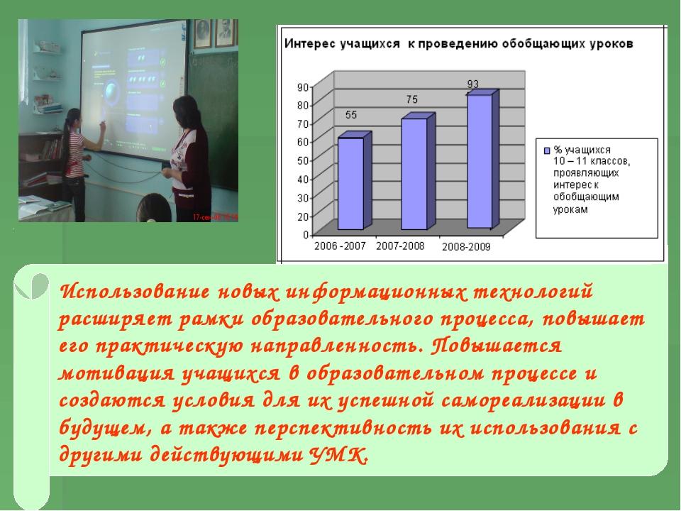 Использование новых информационных технологий расширяет рамки образовательног...
