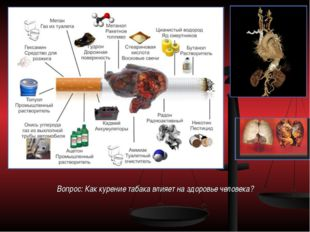 Вопрос: Как курение табака влияет на здоровье человека?