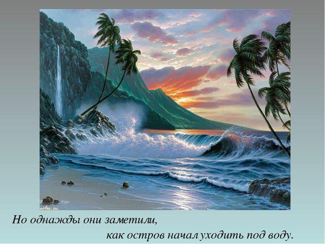 Но однажды они заметили, как остров начал уходить под воду.
