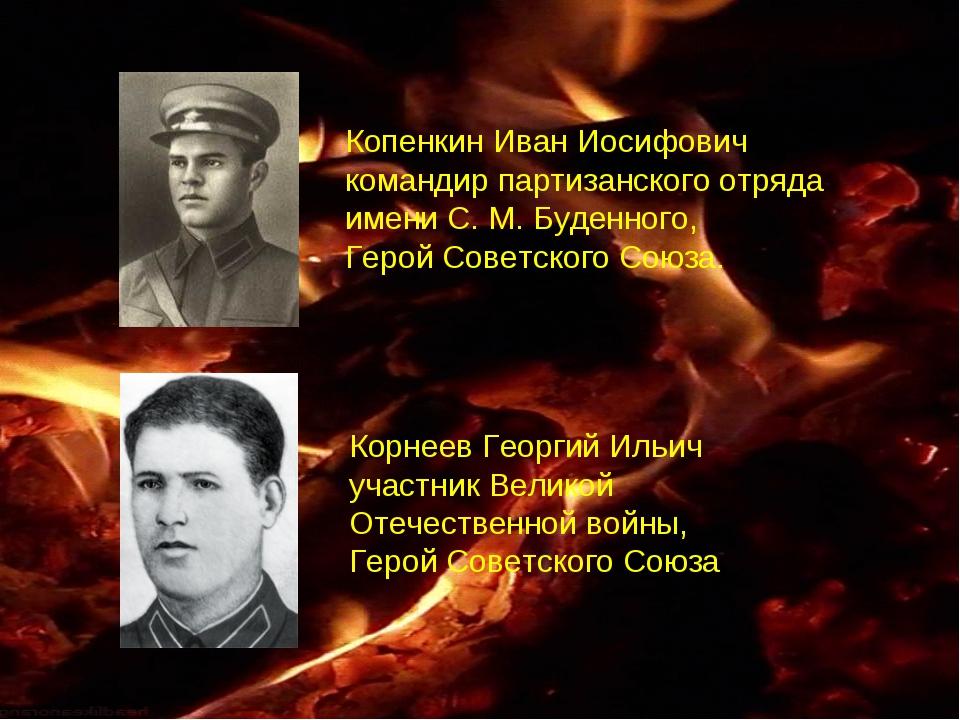 Копенкин Иван Иосифович командир партизанского отряда имени С.М.Буденного,...