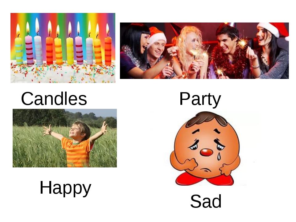 Candles Party Happy Sad