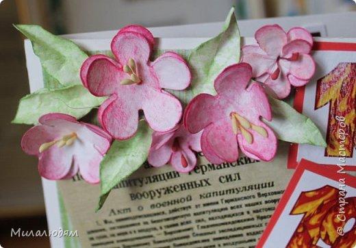 Открытка Скрапбукинг День Победы Аппликация Реставрированные открытки Бумага фото 4