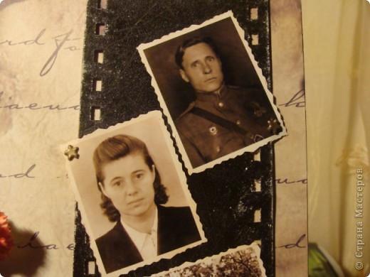 Скрапбукинг День Победы Аппликация Нашим бабушкам и дедушкам посвящается Бумага фото 6