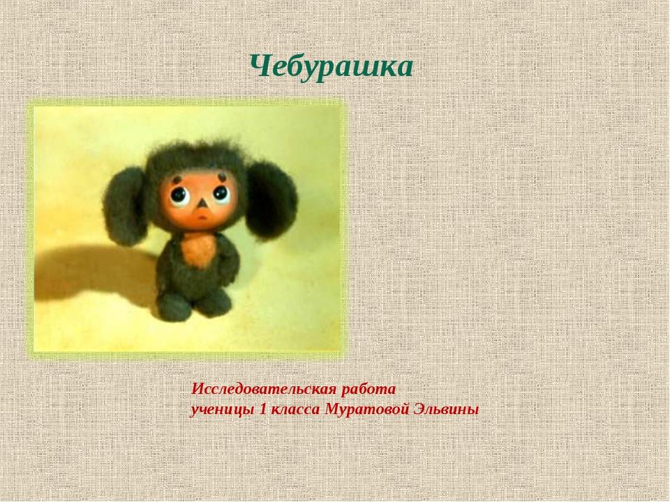 Исследовательская работа ученицы 1 класса Муратовой Эльвины Чебурашка