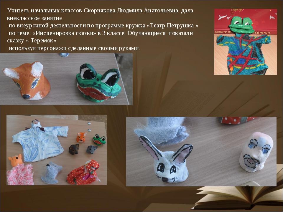 Учитель начальных классов Скорнякова Людмила Анатольевна дала внеклассное зан...