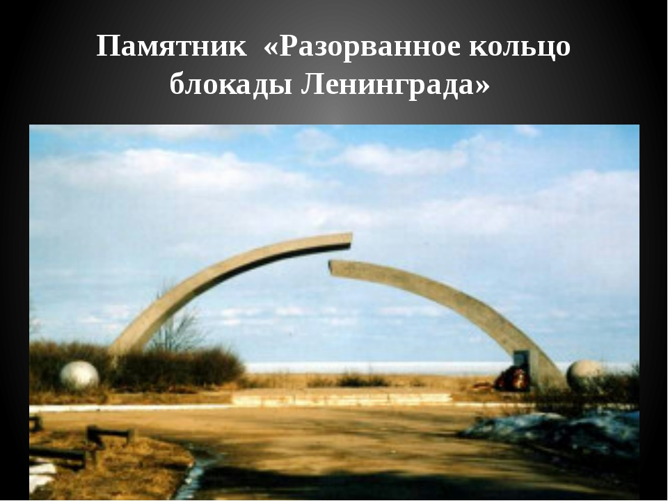 Памятник «Разорванное кольцо блокады Ленинграда»