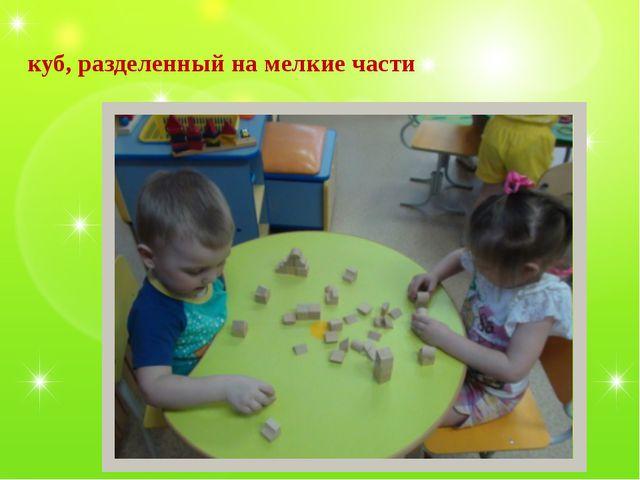 куб, разделенный на мелкие части