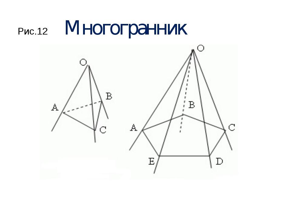 Рис.12 Многогранник