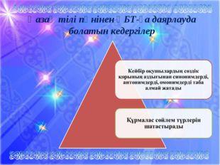Қазақ тілі пәнінен ҰБТ-ға даярлауда болатын кедергілер