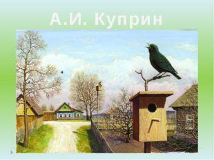 А.И. Куприн «Скворцы»
