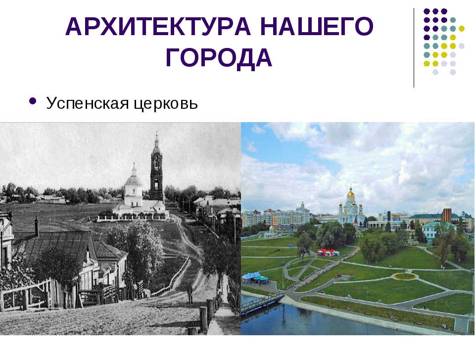 АРХИТЕКТУРА НАШЕГО ГОРОДА Успенская церковь
