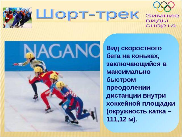 Вид скоростного бега на коньках, заключающийся в максимально быстром преодоле...