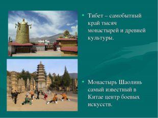 Тибет – самобытный край тысяч монастырей и древней культуры. Монастырь Шаолин