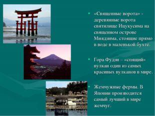 «Священные ворота» - деревянные ворота святилище Ицукусима на священном остро