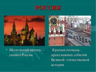 РОССИЯ Московский кремль – Красная площадь - символ России арена важных событ