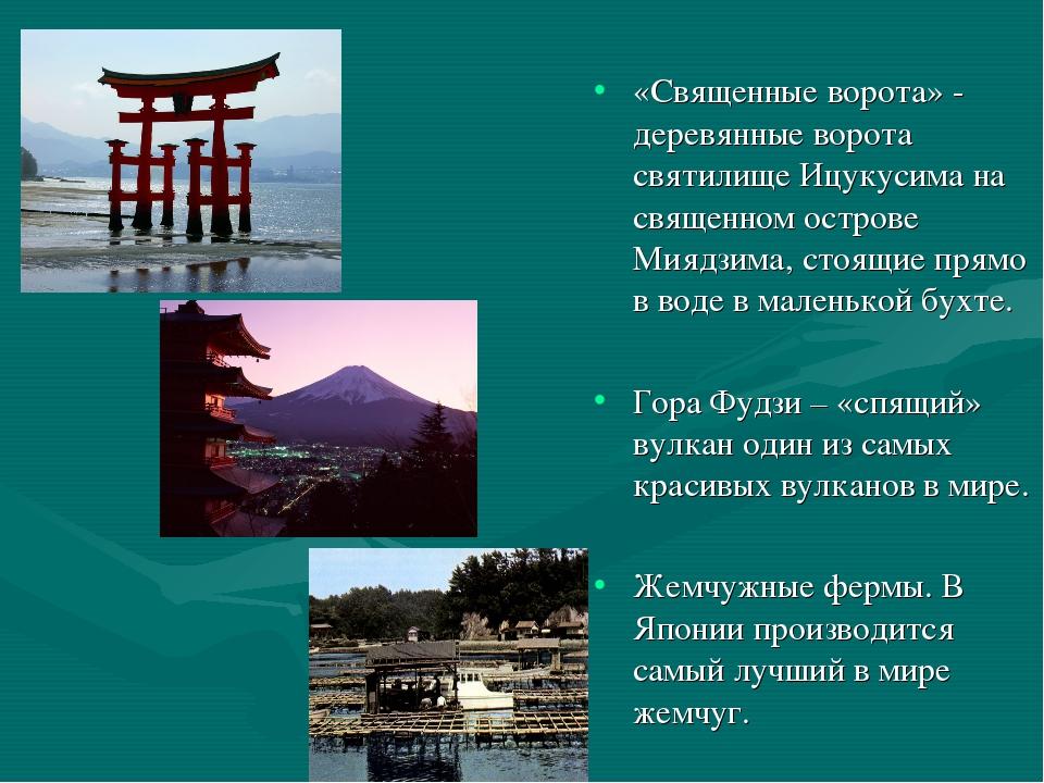 «Священные ворота» - деревянные ворота святилище Ицукусима на священном остро...