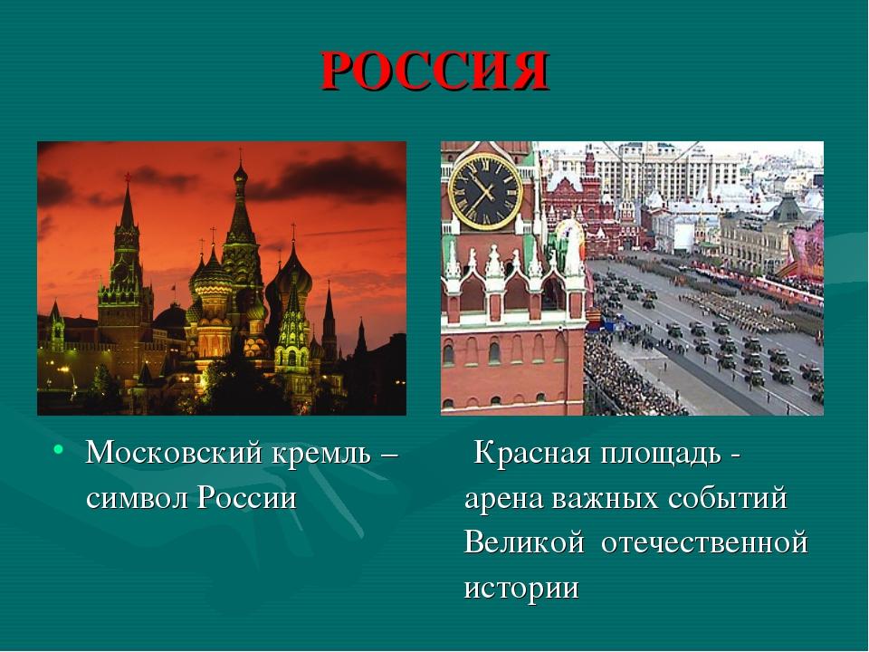 РОССИЯ Московский кремль – Красная площадь - символ России арена важных событ...