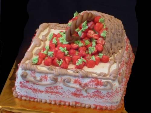 Торт корзинка фото