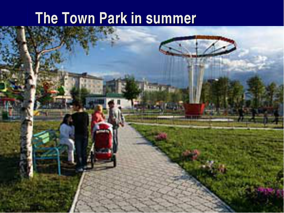 The Town Park in summer