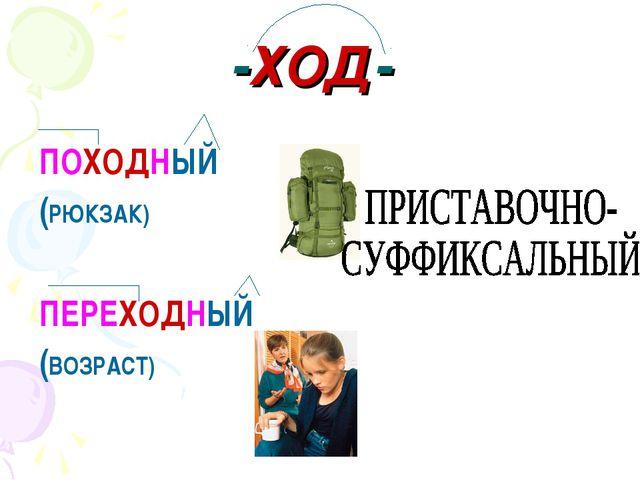 -ХОД- ПОХОДНЫЙ (РЮКЗАК) ПЕРЕХОДНЫЙ (ВОЗРАСТ)