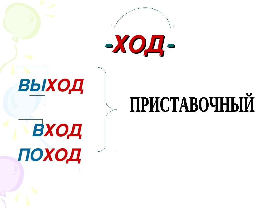 -ХОД- ВЫХОД ВХОД ПОХОД