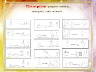 Пиктограмма - рисунчатое письмо. Пиктограмма сказки «Колобок».