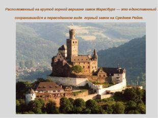 Расположенный на крутой горной вершине замок Марксбург — это единственный сох