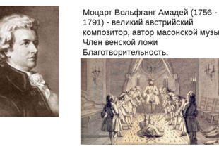 Моцарт Вольфганг Амадей (1756 - 1791) - великий австрийский композитор, автор