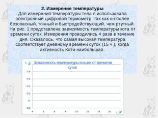 2. Измерение температуры Для измерения температуры тела я использовала электр