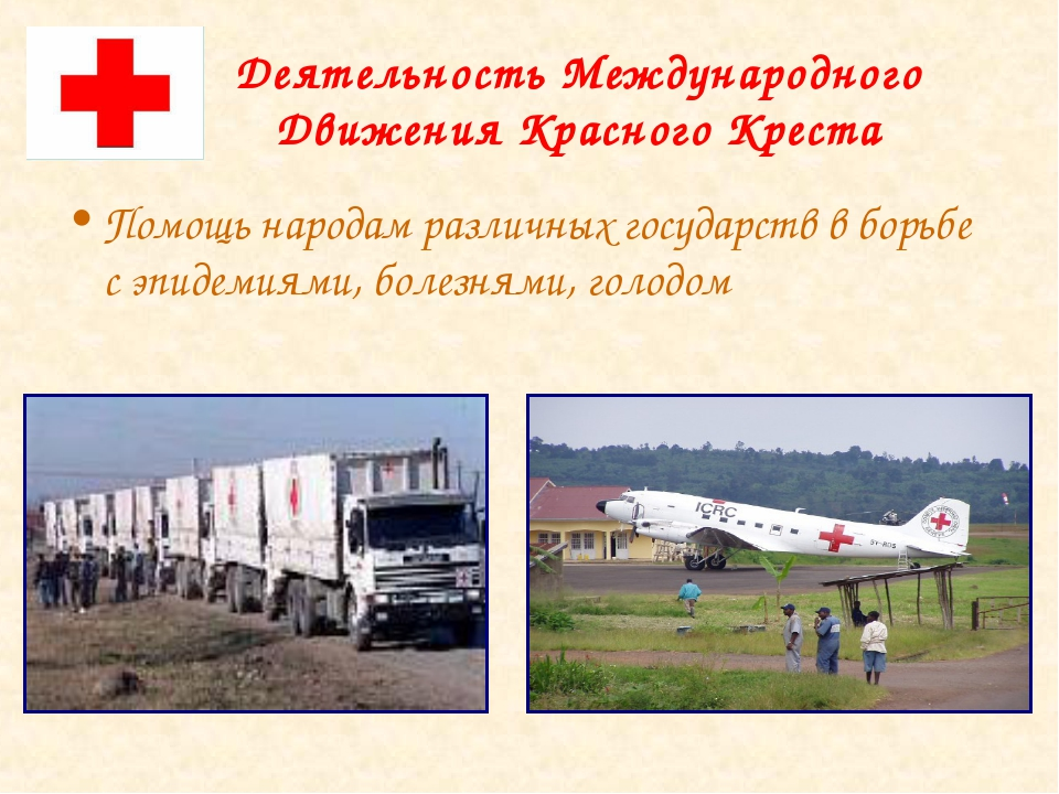 Деятельность Международного Движения Красного Креста Помощь народам различных...
