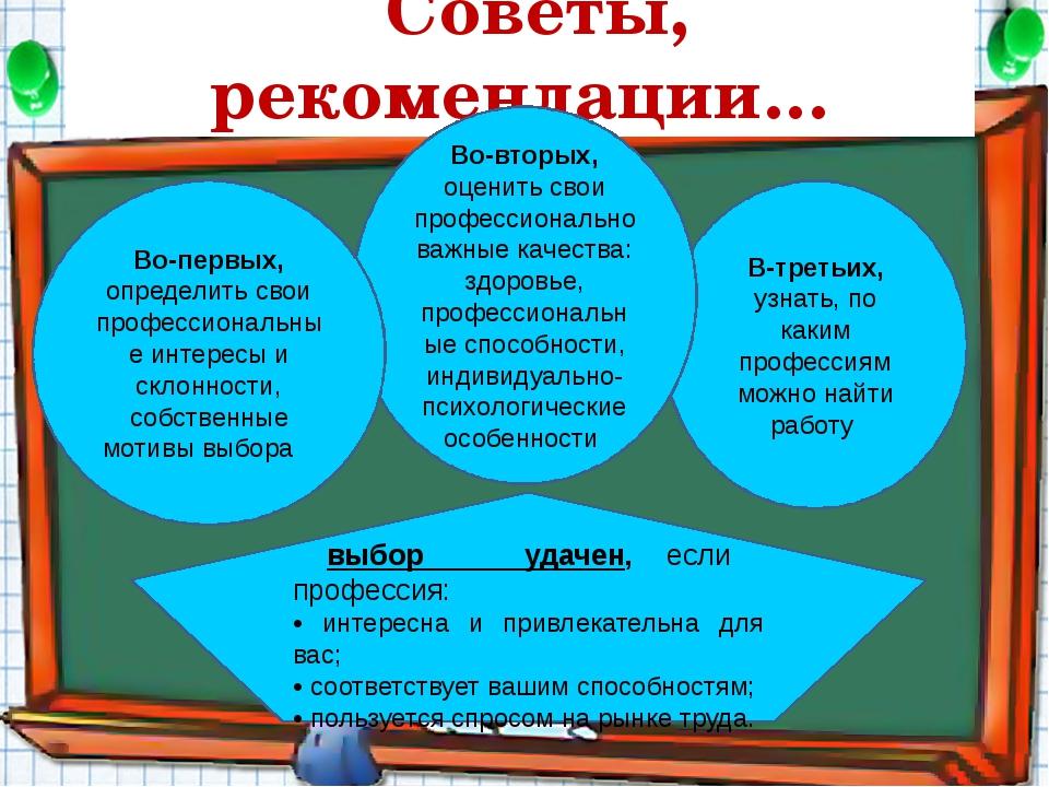 В-третьих, узнать, по каким профессиям можно найти работу Советы, рекомендаци...