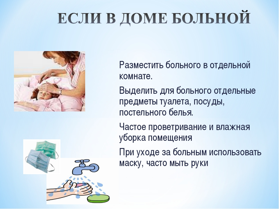Разместить больного в отдельной комнате. Выделить для больного отдельные пред...