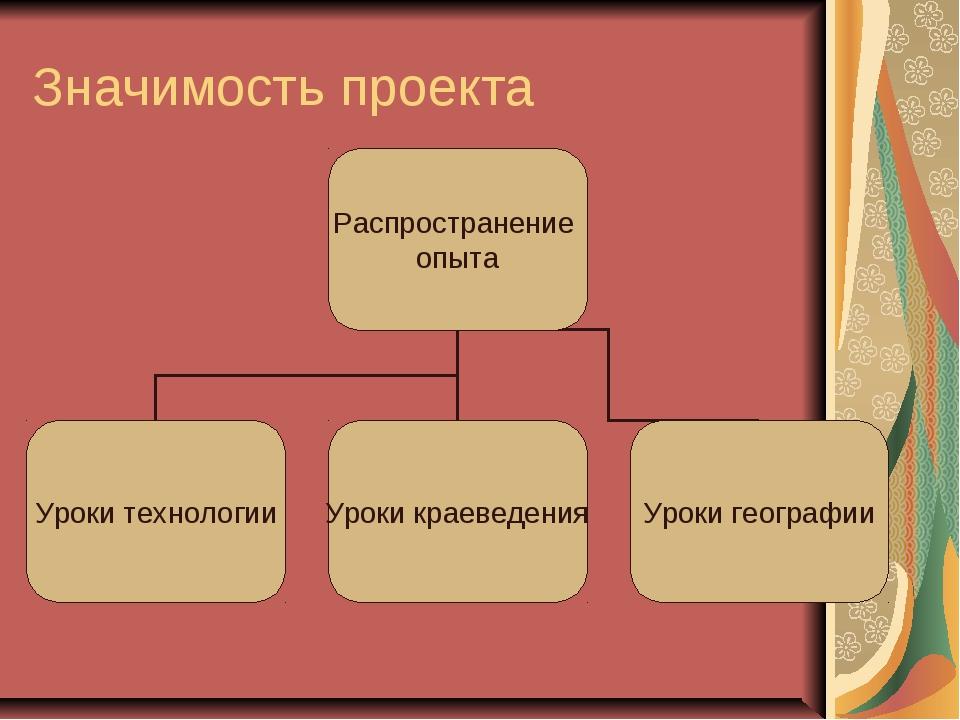 Значимость проекта