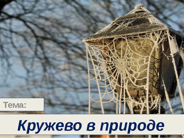 Кружево - это узорное сетчатое плетение из нитей