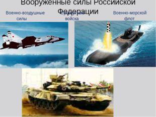 Вооружённые силы Российской Федерации Военно-воздушные Сухопутные Военно-морс