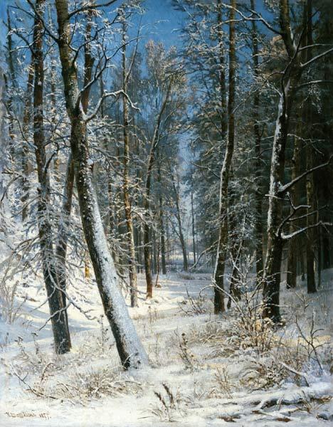 Зима в лесу (Иней)