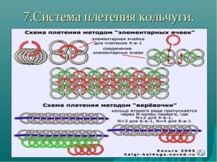 7.Система плетения кольчуги.