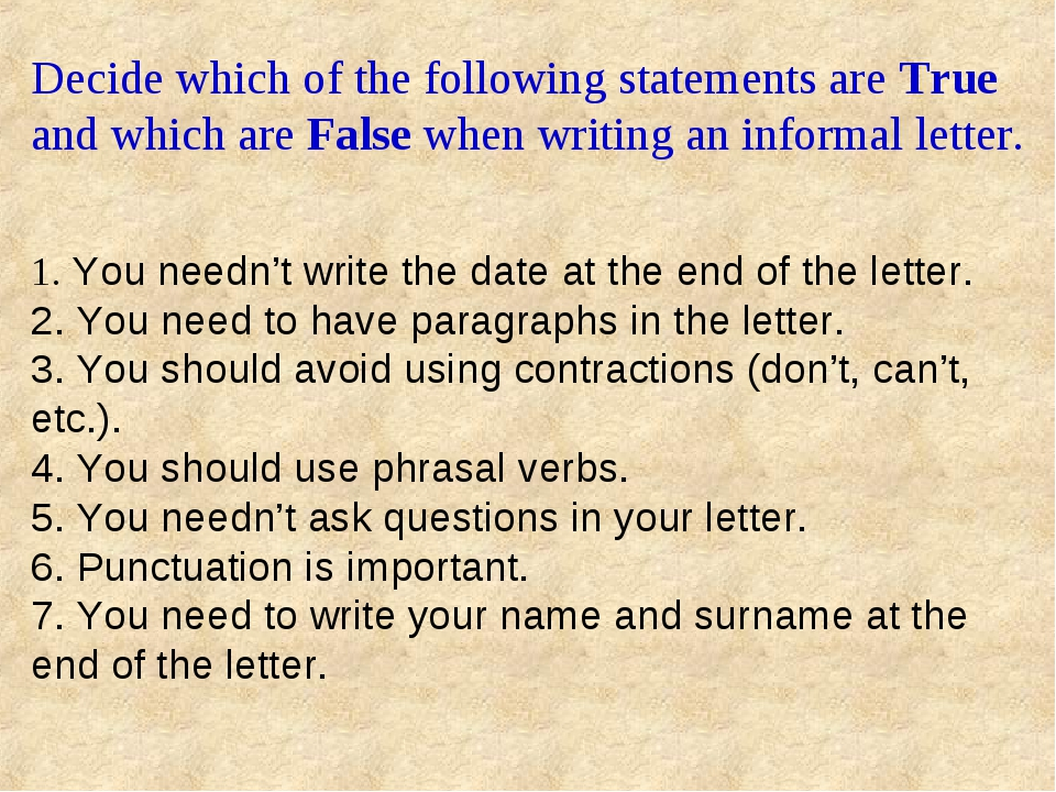 Decide which of the following statements are True and which are False when w...