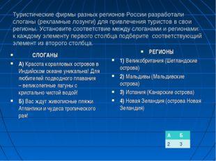 Туристические фирмы разных регионов России разработали слоганы (рекламные лоз