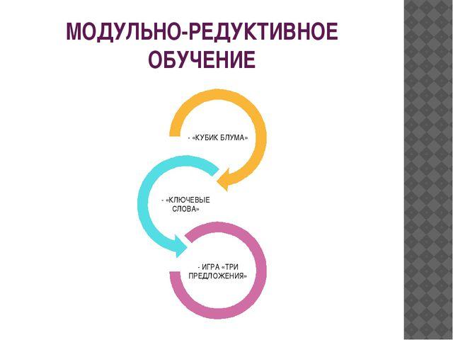МОДУЛЬНО-РЕДУКТИВНОЕ ОБУЧЕНИЕ