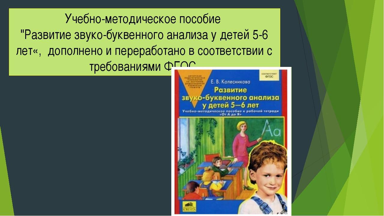 """Учебно-методическое пособие """"Развитие звуко-буквенного анализа у детей 5-6 ле..."""