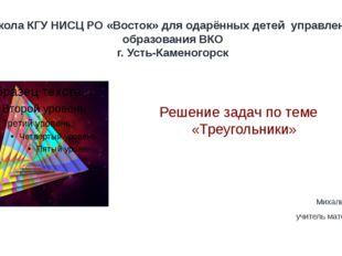 Школа КГУ НИСЦ РО «Восток» для одарённых детей управления образования ВКО г.