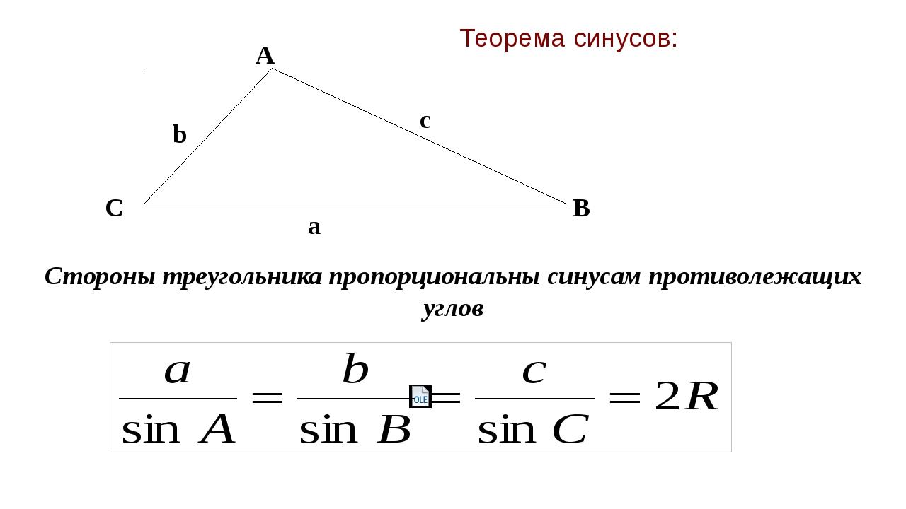 Картинки на теорему синусов