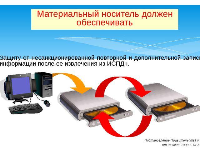 Защиту от несанкционированной повторной и дополнительной записи информации п...